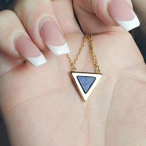 Michelle Campbell Stone Lapis Inlay Necklace NEW